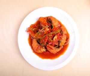 Балык сяй филе рыбы с овощами