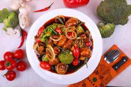 Салат Даамдуу вегетарианский